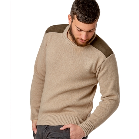 design de qualité bee1c 5ed16 Pull col rond homme jersey XL 30% laine beige Bartavel P60 - Tom Press