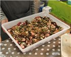 Stackable rectangular food tray 12 litres