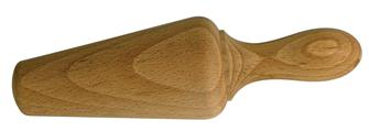 Wooden pestle for strainer
