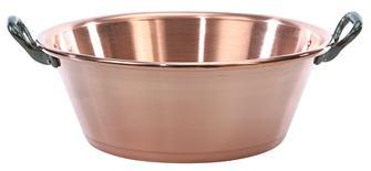 Copper jam basin 12 litres