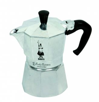Italian coffee maker in aluminium - 18 cups