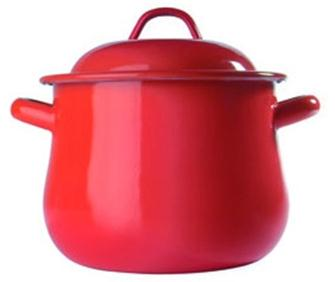 Enamelled cooking pot with lid 20 cm