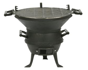 Cast iron brazier barbecue