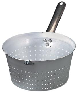 Conical aluminium colander - 20 cm - with handle