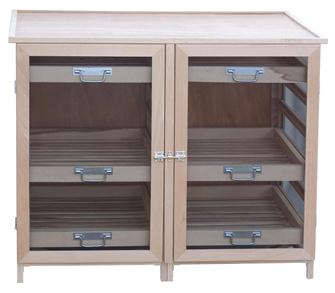 Low fruit and vegetable storage cabinet 12 levels