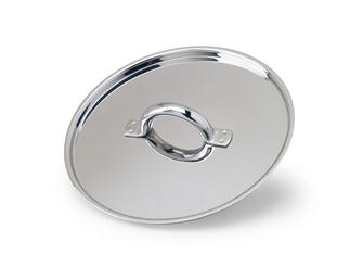 Flat stainless steel lid 24 cm