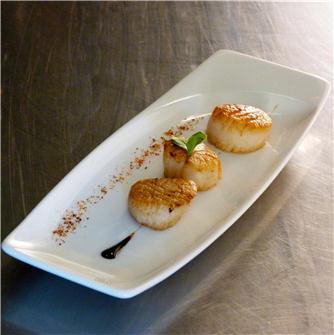 A recipe for scallops by Chef Tenailleau