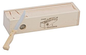 Saucisson box with knife