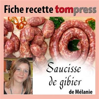 Mélanie´s recipe for game sausage