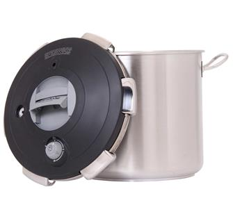 Pressure cooker with clip-on lid 23 litres