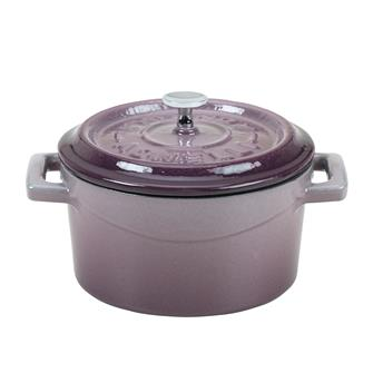 Mini casserole dish 10 cm in cast iron - aubergine