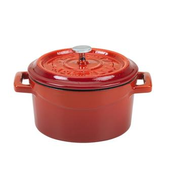Mini casserole dish 10 cm in cast iron - red