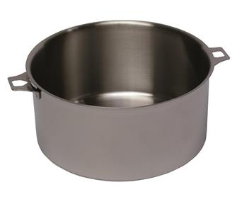 28 cm stainless steel stewpot - 8 litres - no handle