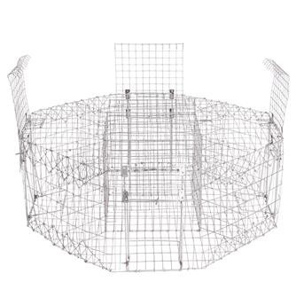 Hexagonal magpie cage trap with 4 entrances