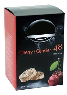 Cherry sawdust bisquette