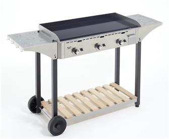 Stainless steel trolley for 90 cm plancha plate