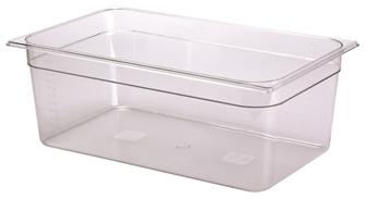 BPA free gastronorm container 1/1 in copolyester. Height 20 cm.