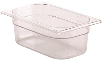 BPA free gastronorm container 1/4 in copolyester. Height 10 cm.