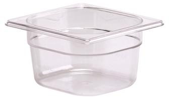 BPA free gastronorm container 1/6 in copolyester. Height 10 cm.