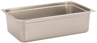 Stainless steel gastronorm container 1/1. Height: 15 cm EN-631