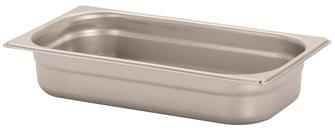 Stainless steel gastronorm container 1/3. Height: 6.5 cm EN-631
