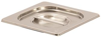 Stainless steel lid with silicone seal for gastronorm container 1/6