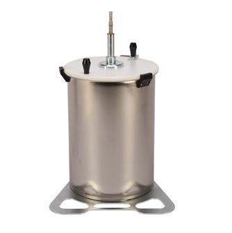 Stainless steel 20 litre apple grinder for a drill