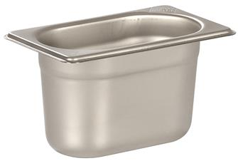 Stainless steel gastronorm container 1/9. Height: 10 cm EN-631