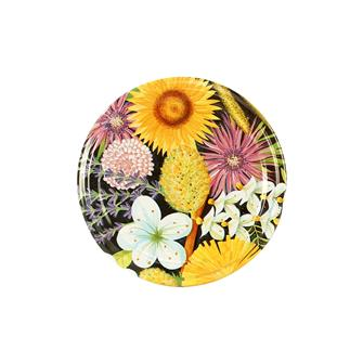 Twist-off honey lids Flowers 63 mm by 10
