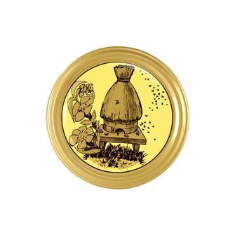Straw beehive honey jar twist off lids - 82 mm by 11