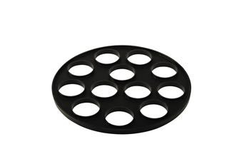 Silicone mould for 12 blinis for 26 cm pan