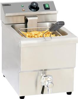 Electric 8 litre deep fryer with a tap