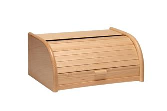 Bread bin with a sliding door in the front