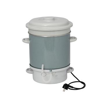 Enamelled electric steam juicer