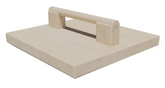 Solid beech pusher for apple grater