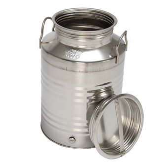 Stainless steel oil can - 25 litres