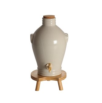 Off-white stoneware vinegar maker - 3 litres