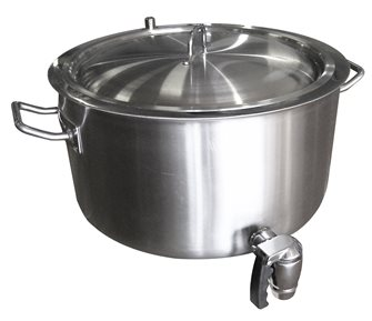 Double wall cooking pot - 26 litres - with tap
