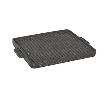 Reversible cast iron plancha cooking plate 30x30 cm