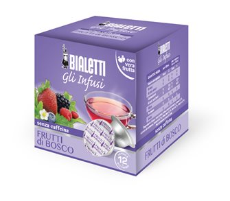 Box of 12 capsules Bialetti infusion Forest fruits