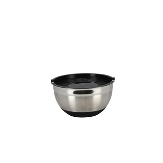Pastry bowl stainless steel silicone 16 cm with lid
