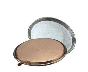 Copper socca dish 36 cm