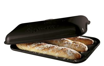 Baguette load mould anthracite gray color charcoal
