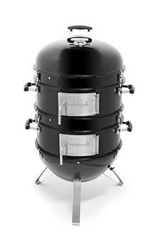 Round lacquered metal smokehouse - large model