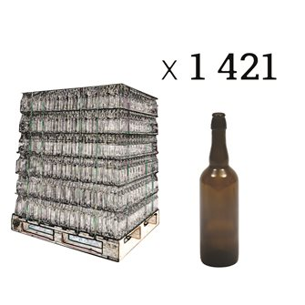 Pallet of 1421 bottles smoked for beer
