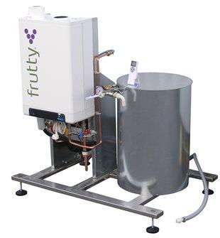 Gas juice pasteuriser 250 litres per hour.