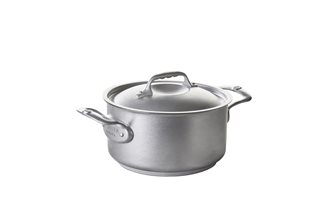 24 cm induction stainless steel casserole with lid De Buyer