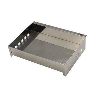 Stainless steel multi-purpose meat and fish smoker drawer Tom Press