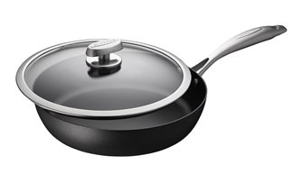 SCANPAN IQ 28 cm Nonstick induction frying pan with lid, guaranteed for life