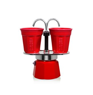 Coffeemaker fountain 2 cups red